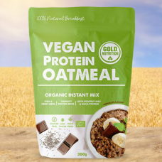 Gold Nutrition > Vegan Protein Oatmeal 300g Chocolate