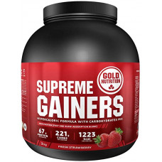 Gold Nutrition > SUPREME GAINERS STRAWBERRY - 3 KG