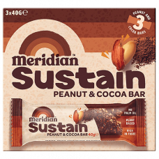 Meridian > Sustain Bars - Peanut & Cocoa Bar Multipack (3x40g)