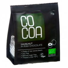RawCocoa > Bio Hazelnuts in Raw Chocolate (70g)
